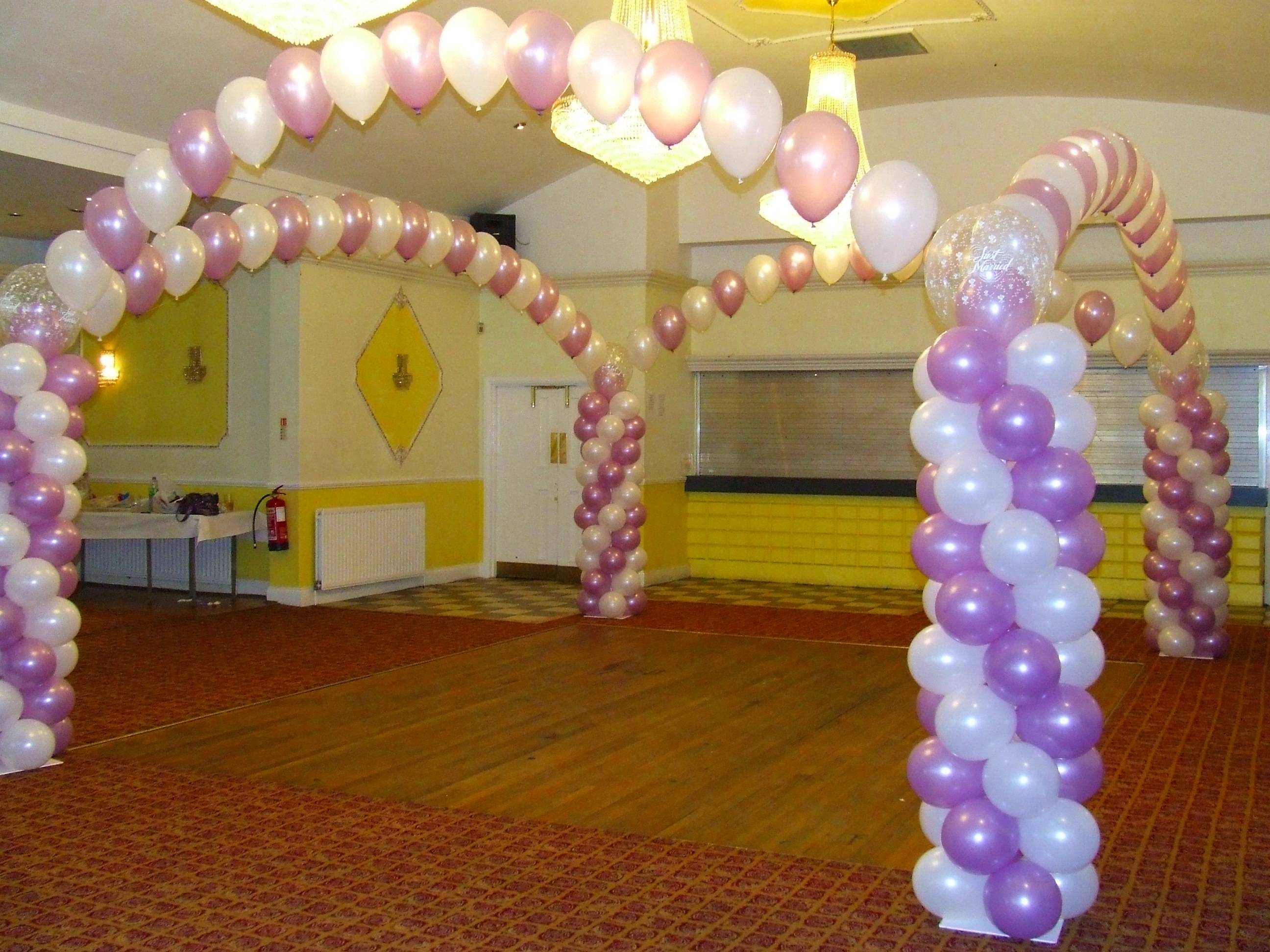 My finishing touch balloon artist and event decorations for Balloon dance floor decoration