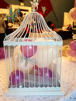 Dove and cage balloon decoration