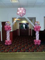 New baby column and arch balloon decoration