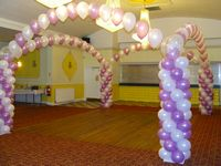 Dance floor column and arches balloon decoration