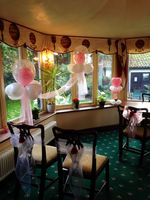 West Lodge Hotel balloon and chair decorations
